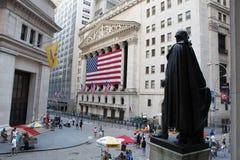 Wall Street royalty-vrije stock afbeelding