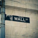 Wall Street стоковая фотография
