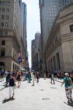 Wall Street Fotos de Stock