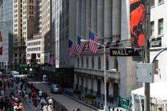 Wall Street Fotos de Stock Royalty Free