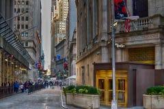 Wall Street Fotografia Stock