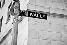 Wall Street Fotografia Royalty Free