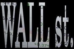 Wall Street Fotos de archivo libres de regalías