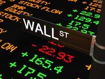 Wall Street Foto de archivo libre de regalías