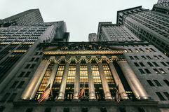 Wall Street royaltyfria foton