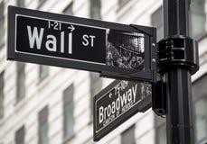 Wall Street image libre de droits