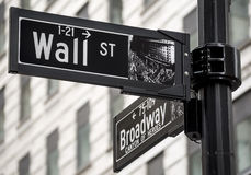 Wall Street Obraz Royalty Free
