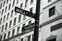 Wall Street Photo stock