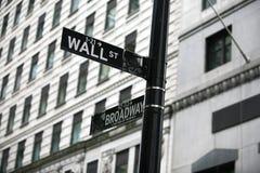 Wall Street Стоковое Фото