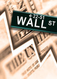 Wall Street. Big Worldwide Financial Crash on Wall Street Stock Photography