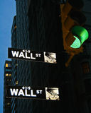 Wall Street Imagenes de archivo