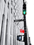 Wall Street: Aliste y vaya fotografía de archivo