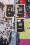 Wall Street. Anti-Wall Street mural, in New York royalty free stock photos