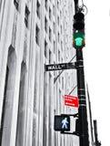Wall Street: Apronte e vá Fotografia de Stock