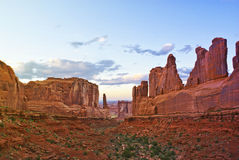 Wall Street in Arches National Park Stock Photos