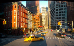 Wall Street Area in New York City Stock Image