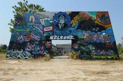 Wall of Street Art Stock Photos