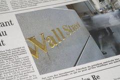 Wall Street artykuł zdjęcie royalty free