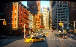 Wall Street-Bereich in New York City Stockbild