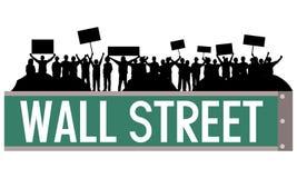 Wall Street bezet royalty-vrije illustratie