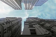 Wall Street budynki Obrazy Royalty Free