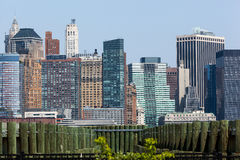 Wall Street Buildings from Liberty State Park Royalty Free Stock Photography