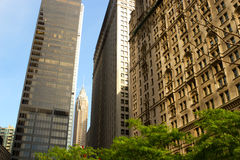 Wall Street buildings, New York Royalty Free Stock Images