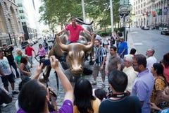 Wall Street Bull Stock Photography