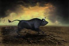 Wall Street Bull Market Symbol Landscape Stock Photography