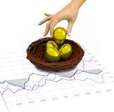 Wall Street-Bulle und Bär-Investierung stockfotografie