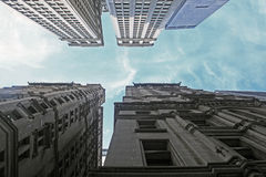 Wall Street byggnader Royaltyfria Bilder