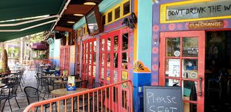 Wall Street Cantina. Colorful fun restaurant in downtown Orlando royalty free stock photos