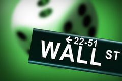 Wall Street Casino. Where gabmlers of the world finance system are Royalty Free Stock Photos
