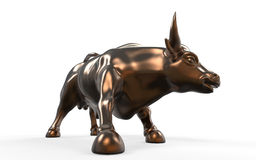 Wall Street Charging Bull Statue Stock Photography
