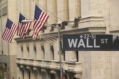 Wall Street at Christmas Stock Photo