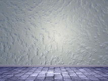 Wall and street - 3D render Royalty Free Stock Photos