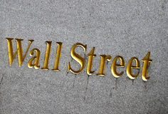 Wall Street in de Stad van New York Stock Foto