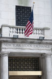 Wall Street in de Stad van New York Stock Foto's