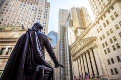 Wall Street in den USA stockbild