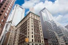 Wall Street drapacze chmur, Manhattan, Miasto Nowy Jork fotografia royalty free