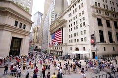 Wall Street e troca conservada em estoque Fotografia de Stock