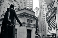 Wall Street em Manhattan New York Foto de Stock Royalty Free