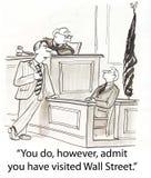Wall Street en ensayo stock de ilustración