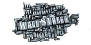 Wall Street en la impresión Fotografía de archivo libre de regalías