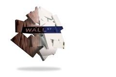 Wall Street en la pantalla abstracta Imágenes de archivo libres de regalías