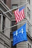 Wall Street en Manhattan Nueva York Imagenes de archivo