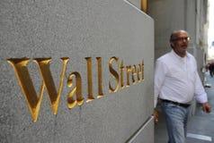 Wall Street en New York City Imagen de archivo libre de regalías