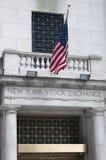 Wall Street en New York City Fotos de archivo