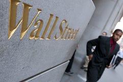 Wall Street en New York City Foto de archivo libre de regalías