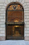 Wall street entrance Stock Image